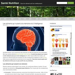 Les aliments qui nuisent à la mémoire et à l'intelligence