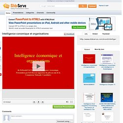 Intelligence conomique et organisations