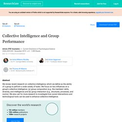 Collective Intelligence and Group Performance