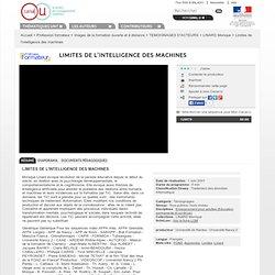Limite de l'intelligence des machines - Moniques LINARD 2000