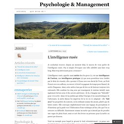 L'INTELLIGENCE rusée Psychologie & Management (PERRIER)