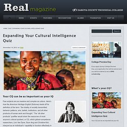 Expanding Your Cultural Intelligence Quiz