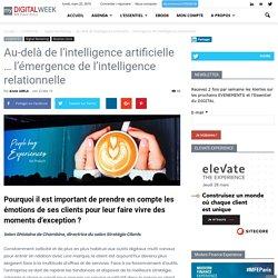 Au-delà de l'intelligence artificielle … l'émergence de l'intelligence relationnelle
