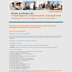 Guide pratique de l'intelligence relationnelle managériale