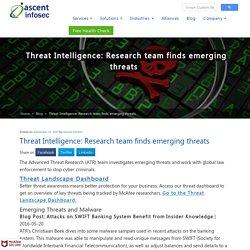 Threat Intelligence: Research team finds emerging threats - Ascent InfoSec