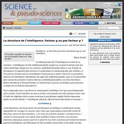 La structure de l'intelligence. Facteur g ou pas facteur g