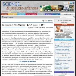 Nicolas Gauvrit - La mesure de l'intelligence - Qu'est-ce que le QI