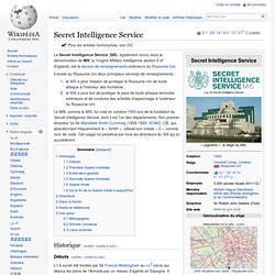 Secret Intelligence Service wikipedia
