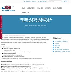 Offshore Business Intelligence Solutions and Advanced Analytics