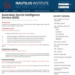 Australian Secret Intelligence Service (ASIS)