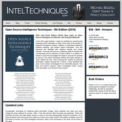 Open Source Intelligence Techniques by Michael Bazzell