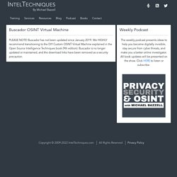 OSINT Training created by Michael Bazzell