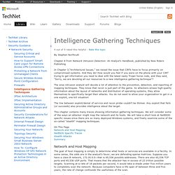 Intelligence Gathering Techniques