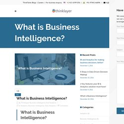 What is Business Intelligence? - Thinklayer