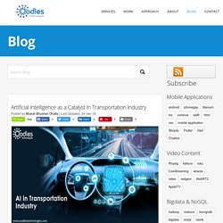 Artificial Intelligence as a Catalyst In Transportation Industry