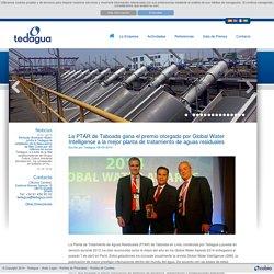 La PTAR de Taboada gana el premio otorgado por Global Water Intelligence a la mejor planta de tratamiento de aguas residuales - Tedagua