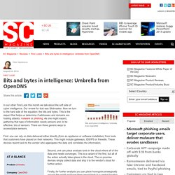 Bits and bytes in intelligence: Umbrella from OpenDNS