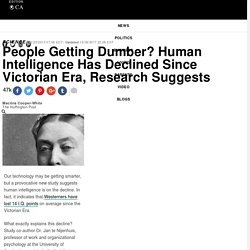 People Getting Dumber? Human Intelligence Has Declined Since Victorian Era, Research Suggests