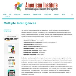 Multiple Intelligences by  Dr. Thomas Armstrong