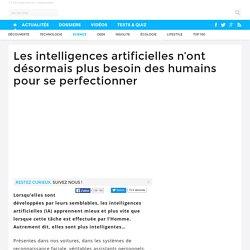 Les intelligences artificielles n'ont désormais plus besoin des humains pour se perfectionner