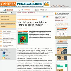Les intelligences multiples au centre de documentation