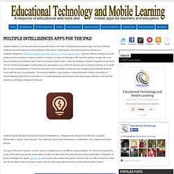 Multiple Intelligences Apps for The iPad