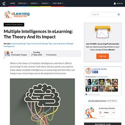Multiple Intelligences In eLearning: The Theory And Its Impact