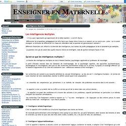 Intelligences Multiples - Enseigner en Maternelle
