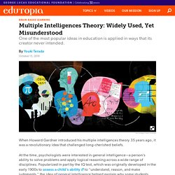 Multiple Intelligences Theory: Widely Used, Yet Misunderstood