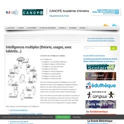 Intelligences multiples (théorie, usages, avec tablette…)