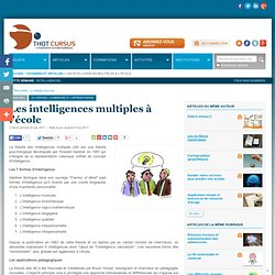 Les intelligences multiples à l'école