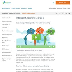 What is Intelligent Adaptive Learning?