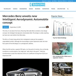 Mercedes Benz unveils new Intelligent Aerodynamic Automobile concept