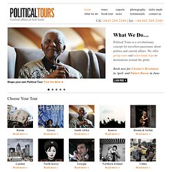 Political Tours – Current Affairs at First Hand