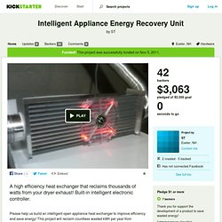Intelligent Appliance Energy Recovery Unit by ST
