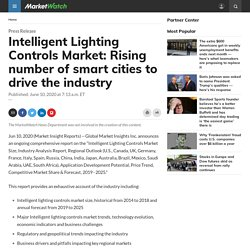 Intelligent Lighting Controls Market: Rising number of smart cities to drive the industry