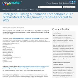 Intelligent Building Automation Technologies 2017 Global Market Share,Growth,Trends & Forecast to 2022