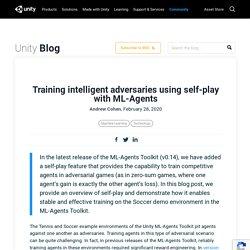 Training intelligent adversaries using self-play with ML-Agents - Unity Technologies Blog