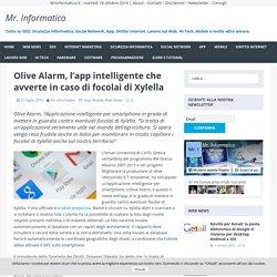 MRINFORMATICO 21/07/16 Olive Alarm, l'app intelligente che avverte in caso di focolai di Xylella