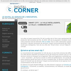 Smart City : la ville intelligente, la ville « communicante »