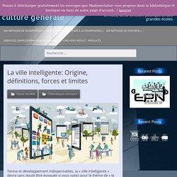 La ville intelligente: Origine, définitions, forces et limites – Ma dissertation de culture générale