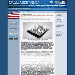 2014/03/07 > BE Etats-Unis 360 > De la ville intelligente à la ville sensible : l'exemple de la gestion des eaux