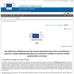 Commission européenne : simplifier et renforcer la filière agroalimentaire en Europe