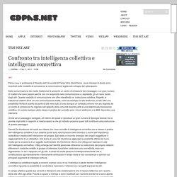 Confronto tra intelligenza collettiva e intelligenza connettiva