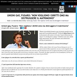 """Unioni gay, Fusaro: """"Non vogliono i diritti omo ma distruggere il matrimonio"""" - IntelligoNews - quotidiano indipendente di informazione"""