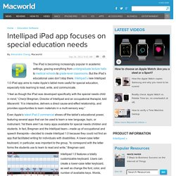 Intellipad iPad app focuses on special education needs