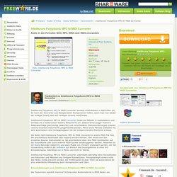 Intelliscore Polyphonic MP3 to MIDI Converter zum Download auf Freeware.de
