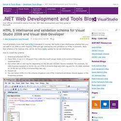 HTML 5 validation in Visual Studio