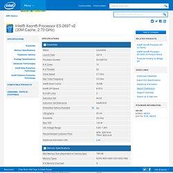 Xeon® Processor E5-2697 v2 (30M Cache, 2.70 GHz)