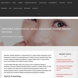 Intended information about advanced dental health services